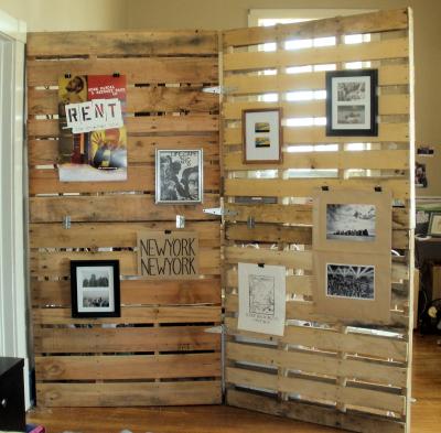 Wood Pallet Room Divider