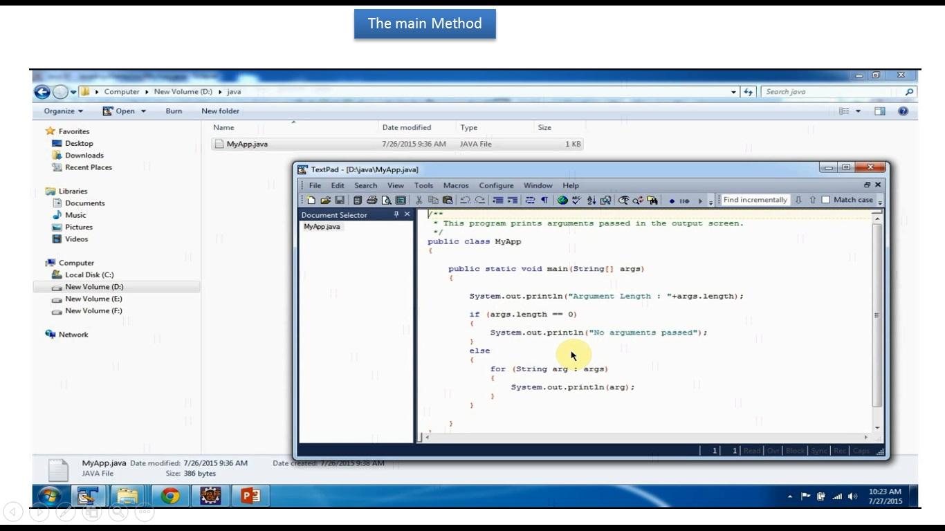 JAVA EE: Java Tutorial : The Main method