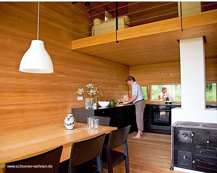 Arquitectura de casas casa caba a moderna de madera en - Fotos de casas de madera por dentro ...