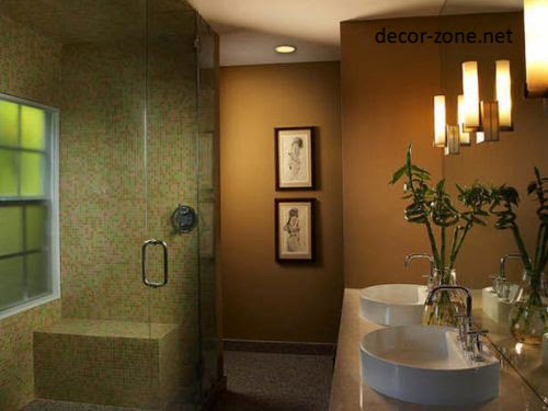 Modern bathroom design ideas in a brown color for Bathroom ideas tan