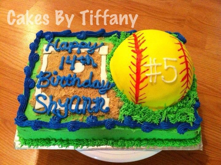 Soft Ball Birthday Cake Cakes By Tiffany