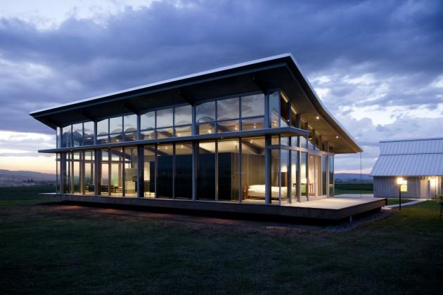 In and out decor casa de vidro oregon for Casa minimalista vidriada