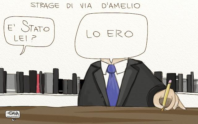 Gava Satira Vignette Borsellino strage Mancino Stato