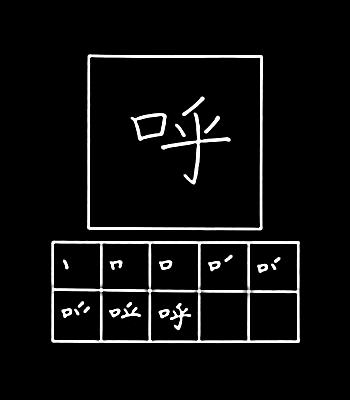 kanji memanggil