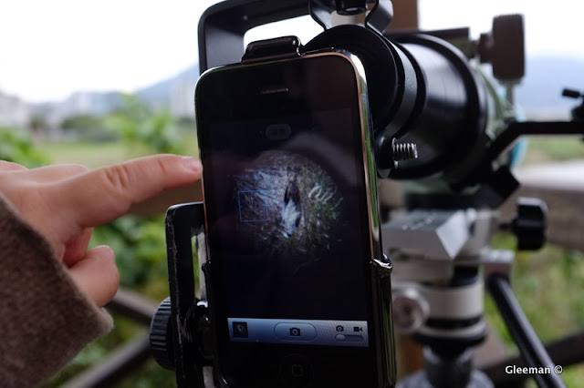 Digiscoping with iPhone (Pentax 75SDHF)