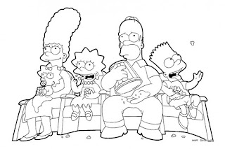 Desenhos Preto e Branco Familias felizes e alegres Colorir