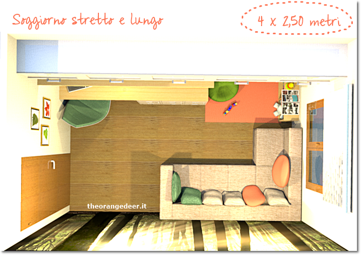 the orange deer: arredare un soggiorno stretto e lungo - Arredamento Piccolo Soggiorno Con Angolo Cottura 2