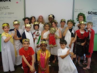 Roman Dressed Students
