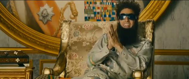 The Dictator 2012 movie trailer impressions comedy film trailer reviews cmaquest sacha baron cohen satire humor dictatorship
