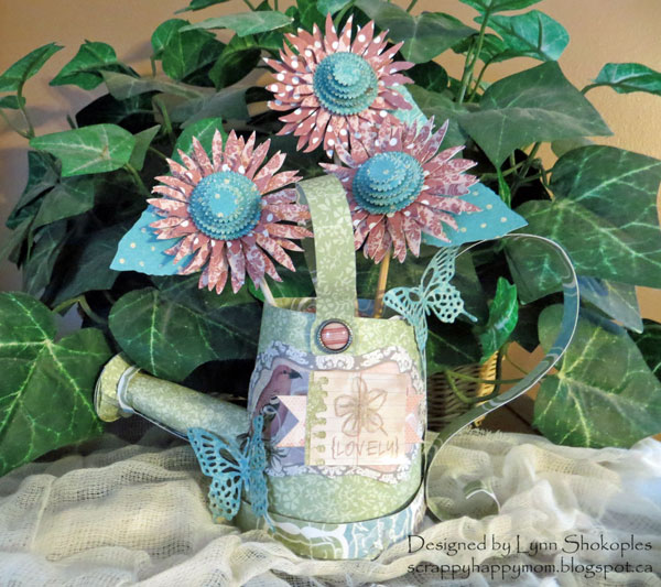 Spring Has Sprung Water Can by Lynn Shokoples for BoBunny featuring the Garden Journal Collection and 3L Scrapbook Adhesives