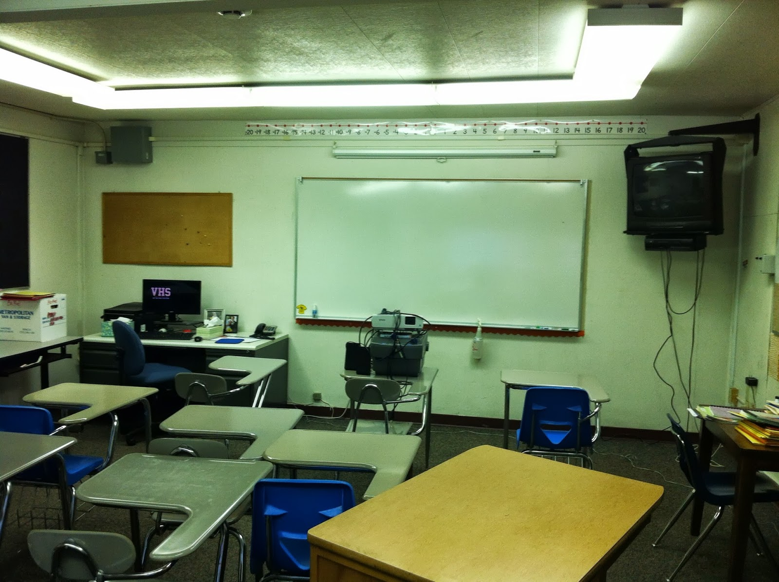 Definitely need more white board and some cords for the projector.
