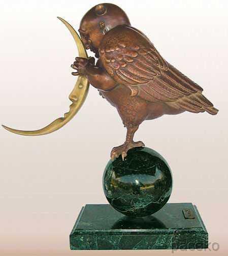3D Sculpture Moon Bird