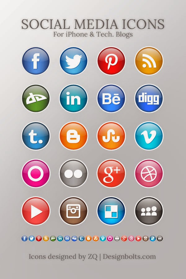 High Quality Social Media Icons