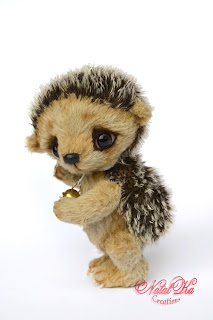 Авторский ежик тедди, еж тедди, Künstlerigel, Künstlerteddy, artist hedgehog, teddy hedgehog ooak, jointed hedgehog, mohair hedgehog, teddies with charm, NatalKa Creations