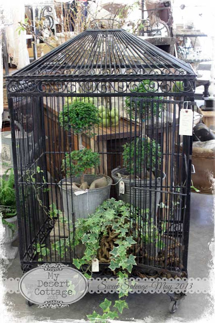 My desert cottage sweet salvage sweet retreats for Decorative birds for outside