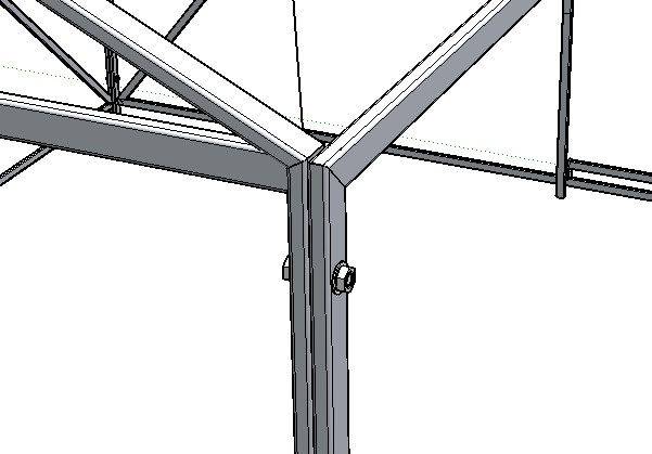 Lalus fecit dibujos 3d estructura para soportar toldo for Estructura de toldo