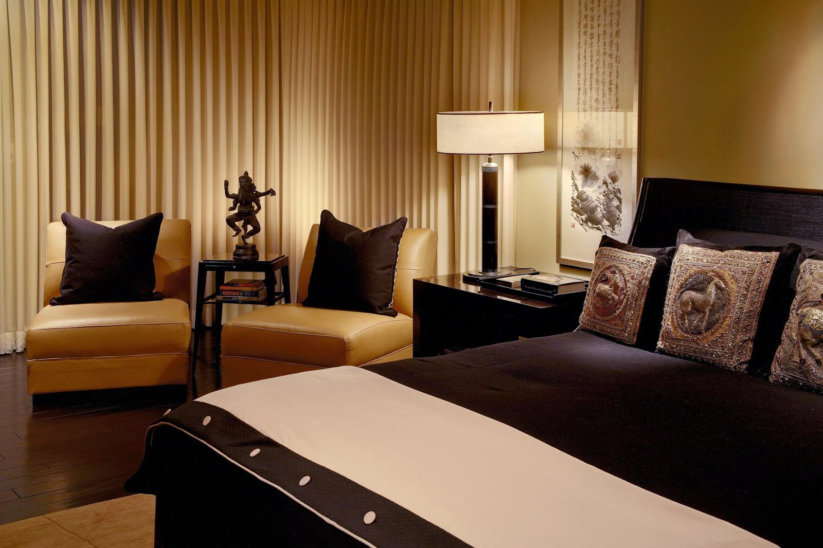 brown and black bedroom furniture | architecture and furniture