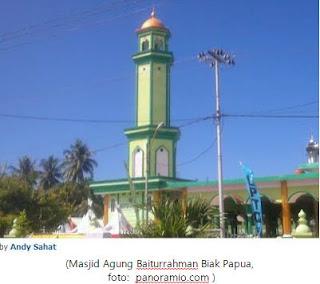 Masjid Agung Baiturrahman Biak ,Papua