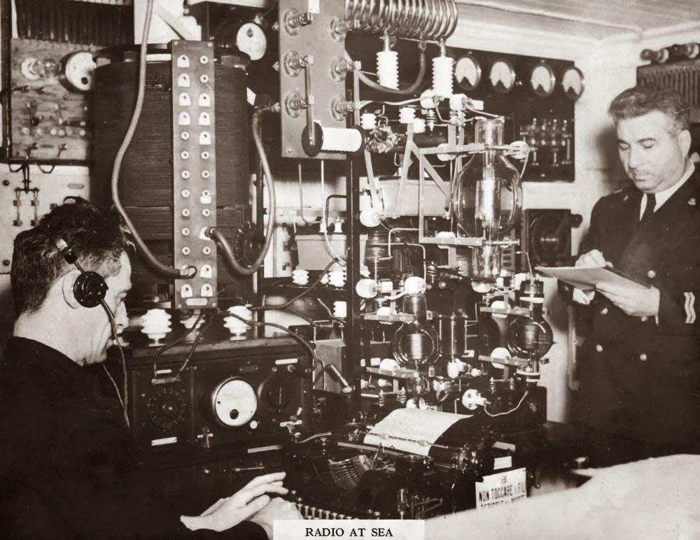 vics tech blog 1920s shipboard radio station
