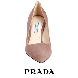 PRADA Suede Pumps MONICA VINADER Earings