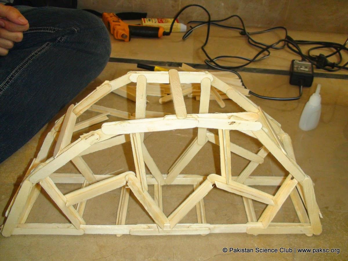 Day 2 Popsicle Stick Bridge Construction