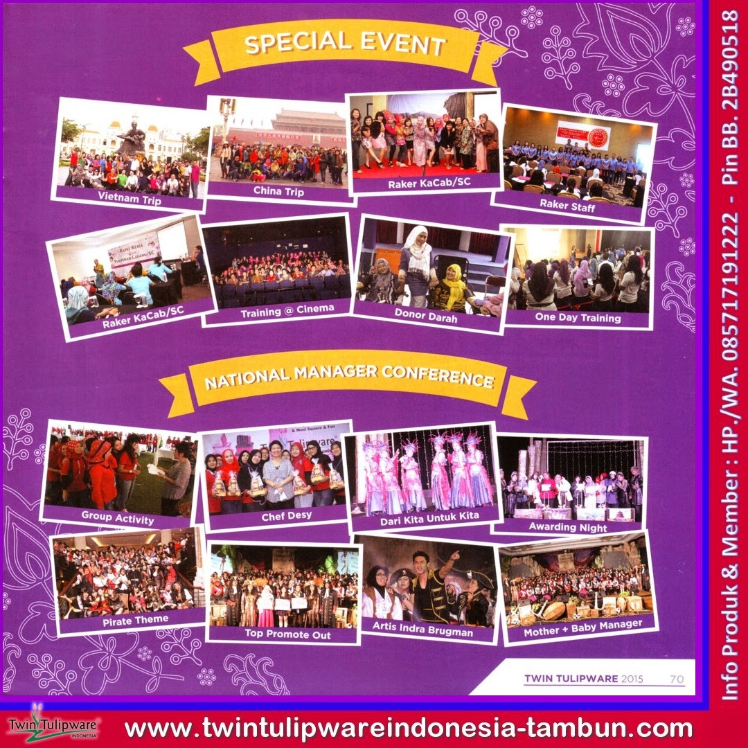 Dokumentasi, NMC, National Manager Conference, Special Event, Katalog Tulipware 2015