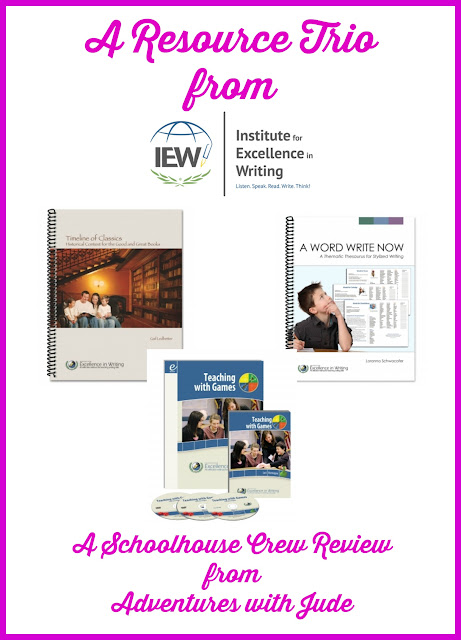 IEW Resources - Timeline of Classics, A Word Write Now, and Teaching with Games Review