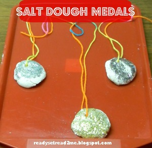 Olympic crafts, Olympic games for kids, Salt Dough Medals, Olympics 2012