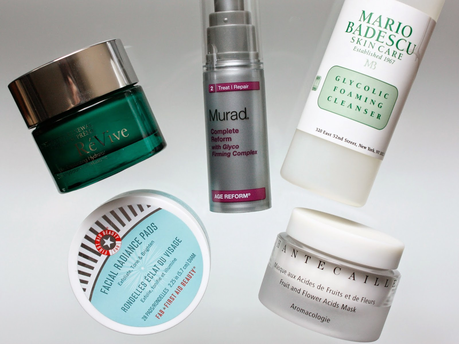 Products with glycolic acid