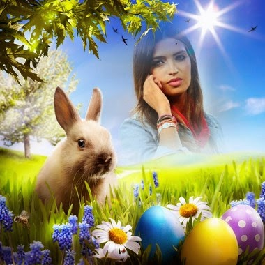 efecto de foto happy easter
