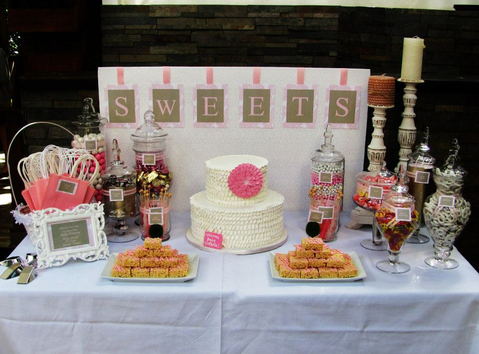 sweet treats carousel shabby chic baby shower candy table