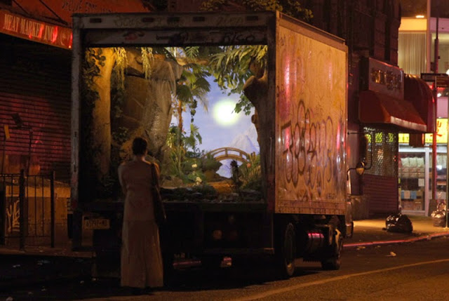 """All City"" Truck Installation By Banksy For Better Out Than In Exhibition In New York City. 1"