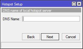 DNS untuk local hotspot server