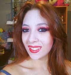 maquillaje de vampira por marta rodriguez