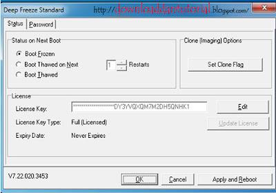Install dan buka Deep Freze