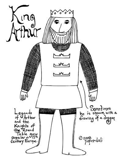 King Arthur Free Coloring Page