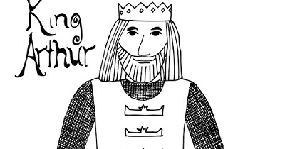 Paper Dali: King Arthur: Free Coloring Page