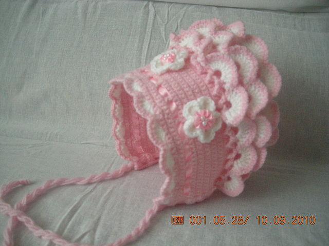 Вязание для новорожденных девочек шапочка крючком 617