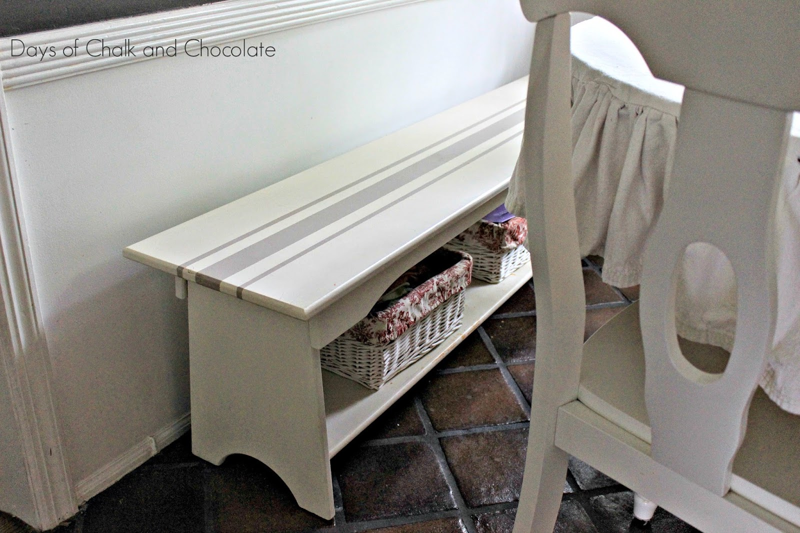 chalk paint bench