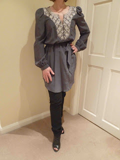 Claire+going+out+grey+tunic Saturday Night Out