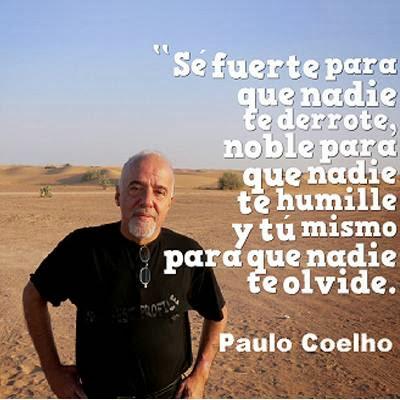 Foto y frase de Paulo Coelho