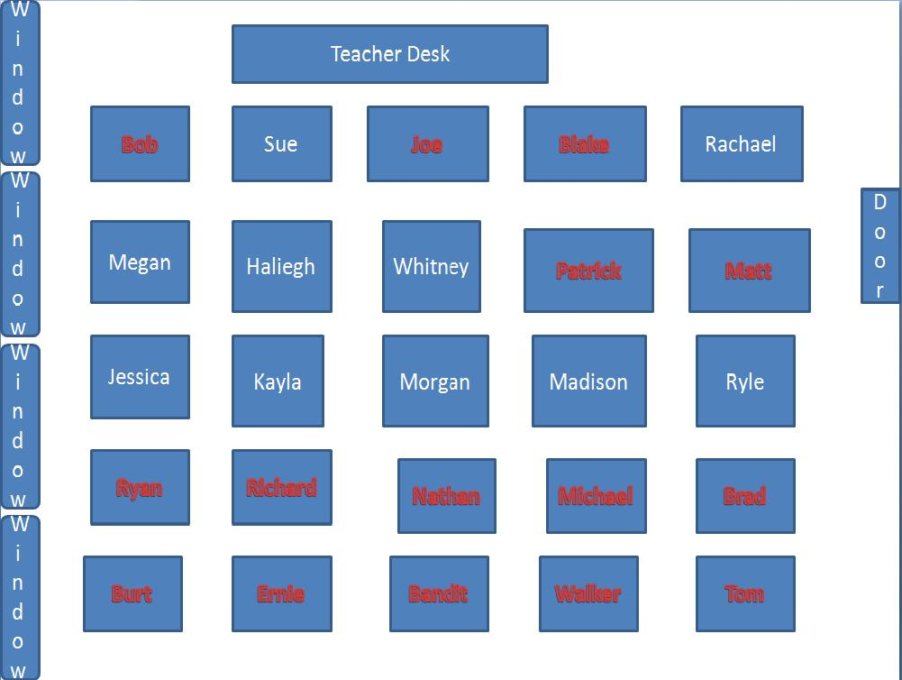 school bus seating chart template – Seating Chart Template for Classroom