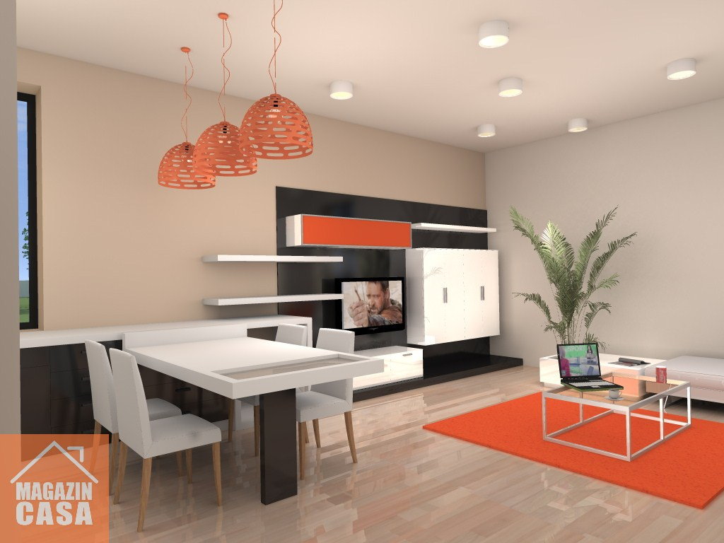 Arhiconstruct design interior apartament 2 camere bloc nou arad - Design interior apartamente ...