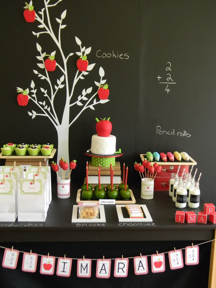 Back to school party free printables party ideas for Back to school party decoration ideas