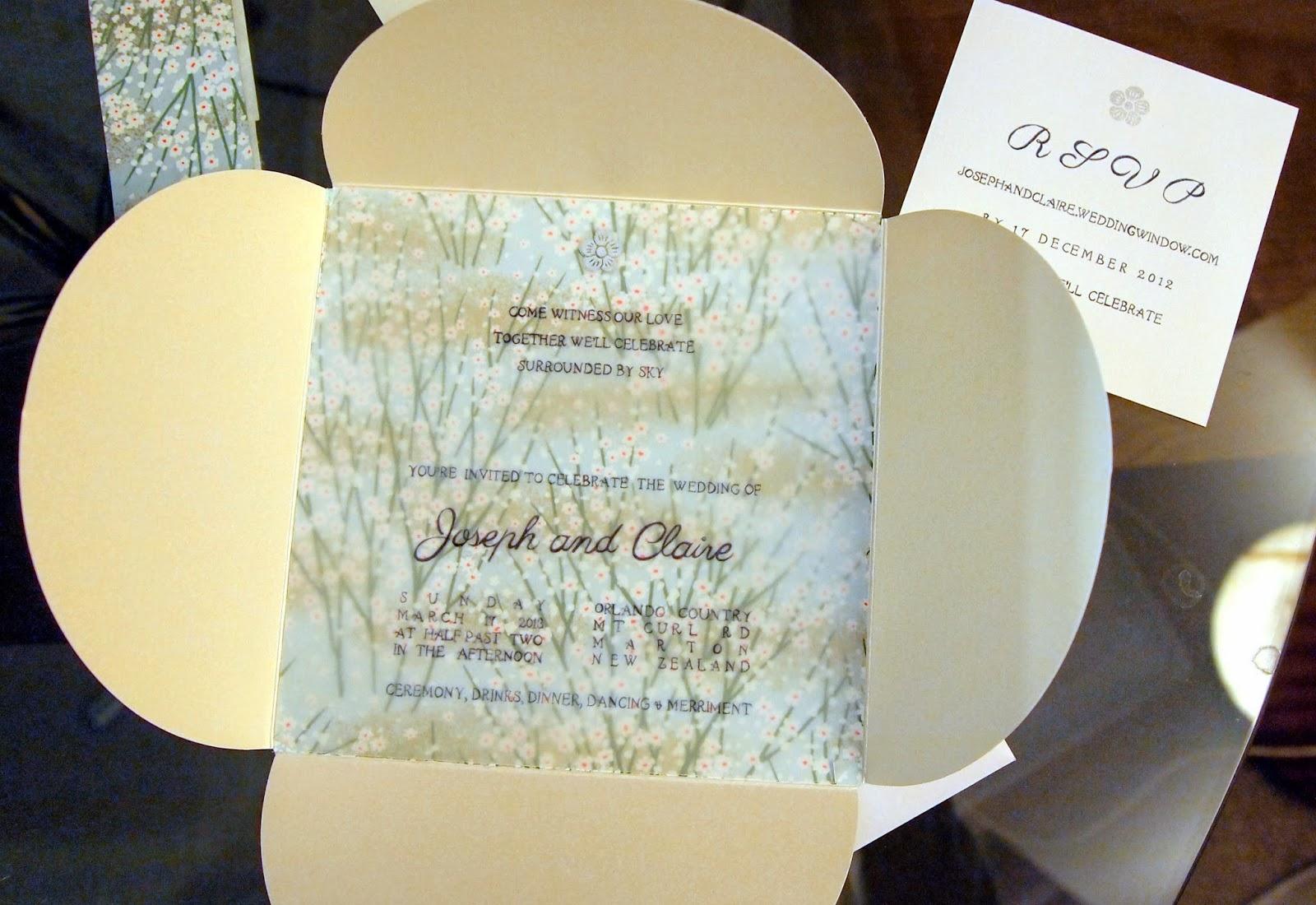 somewhere yonder: #6 - homemade wedding invitations