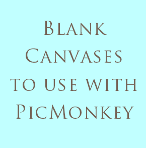 Find blank images to get creative with in PicMonkey