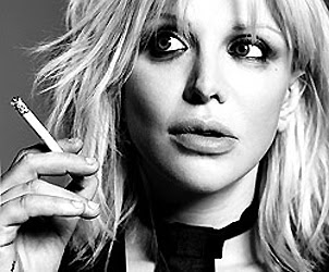 Courtney Love Smoking