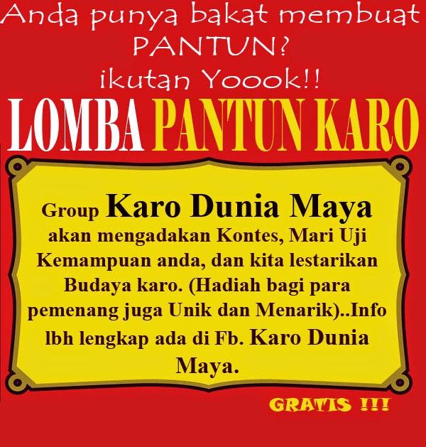"""Lomba Pantun Karo di Group """"Karo Dunia Maya"""""""