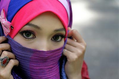cara memakai jilbab praktis modis