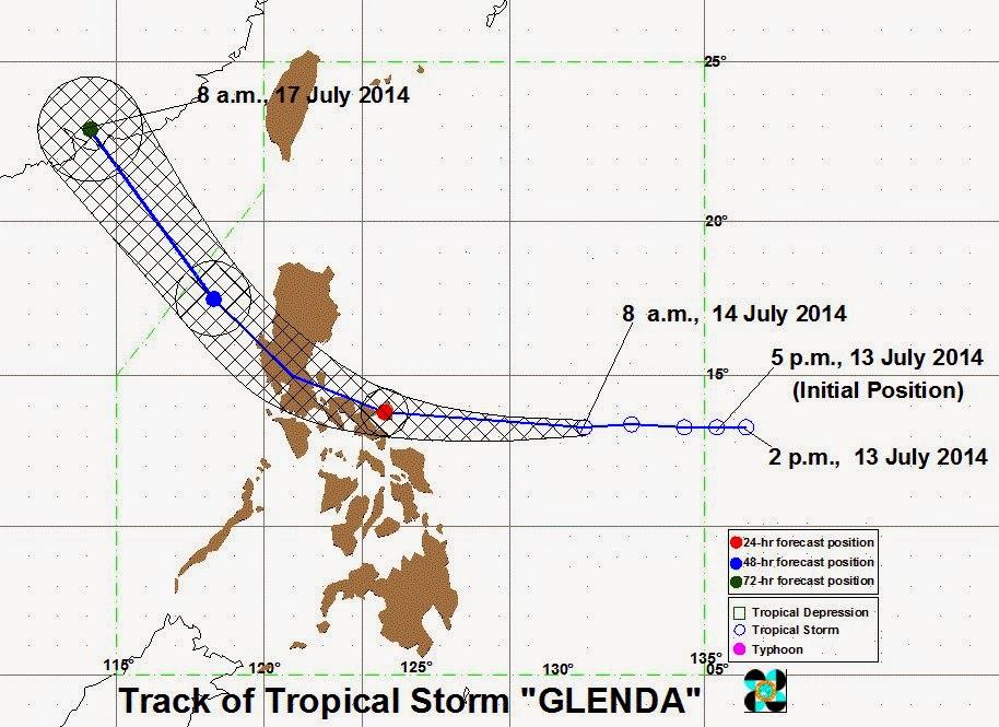 'Bagyong Glenda' intensifies   July 14, 2014 PAGASA weather update